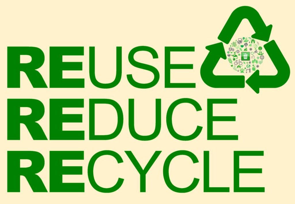 Reuse, Reduce and Recycle. Some of the ways to be more ethical and sustainable in 2021.